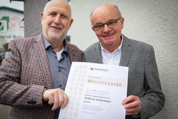 Wilfried Heidemann feiert Goldenes Meisterjubiläum