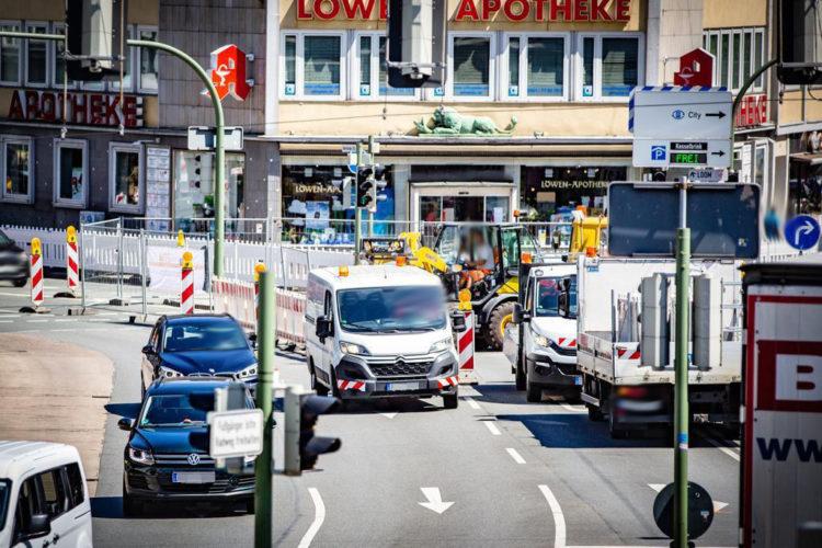 Verkehrsfluss in der Innenstadt muss aufrechterhalten werden