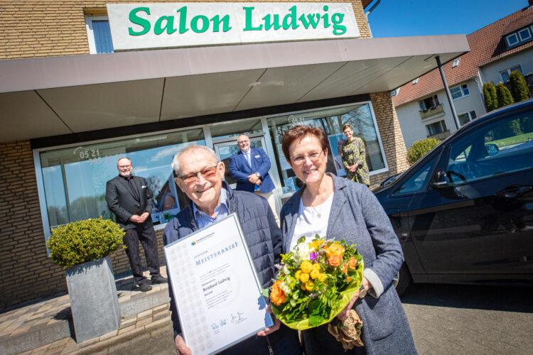 Reinhard Ludwig feiert Eisernes Meisterjubiläum